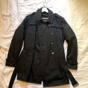 Banana Republic Lined Trench Coat, Small, Black